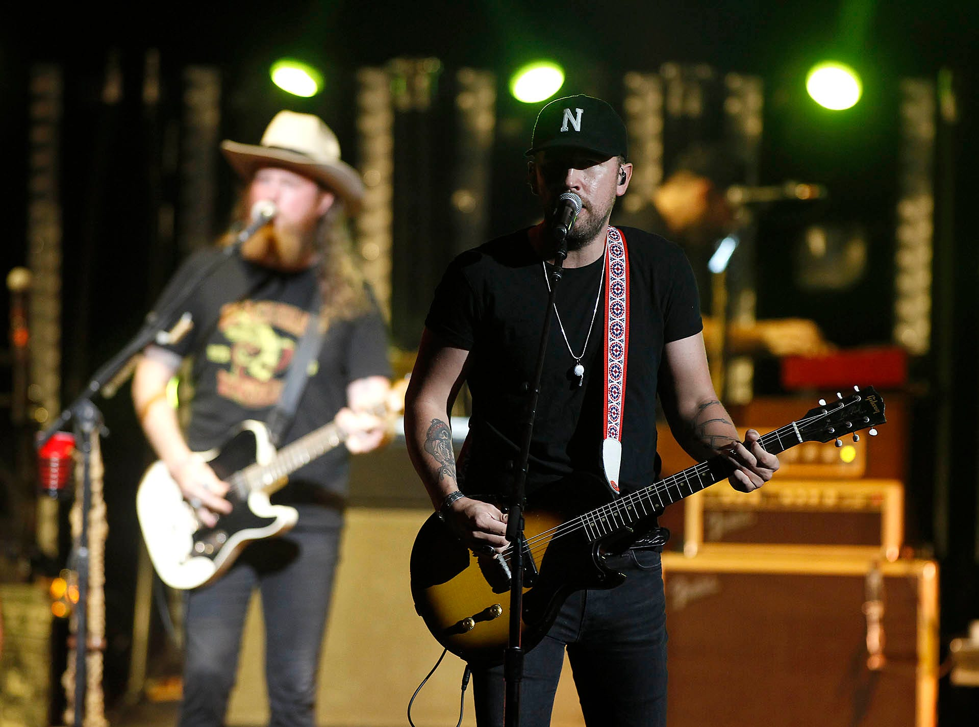 Brothers Osborne open for Dierks Bentley during his Mountain High Tour at Ak-Chin Pavilion in Phoenix on Saturday, Sept. 29, 2018.
