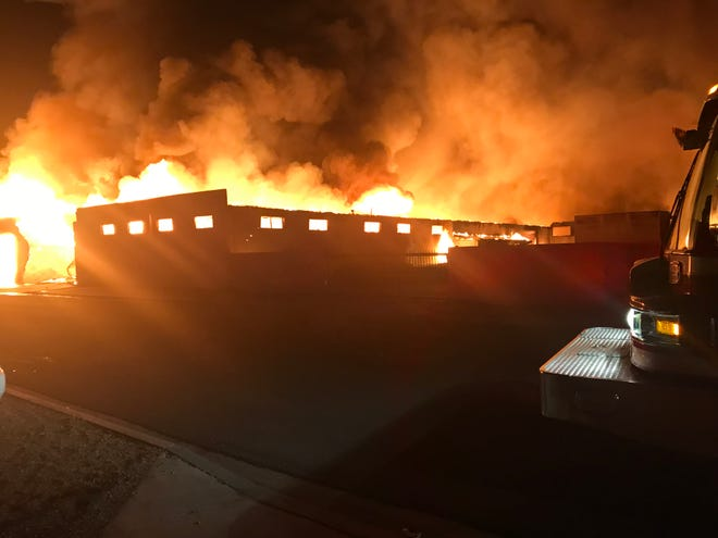 A massive fire destroyed a furniture business near Central Avenue and Interstate 17 on Sept. 30, 2018.v