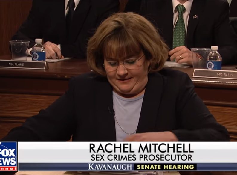 Rachel Mitchell, played by Aidy Bryant on SNL's Cold Open