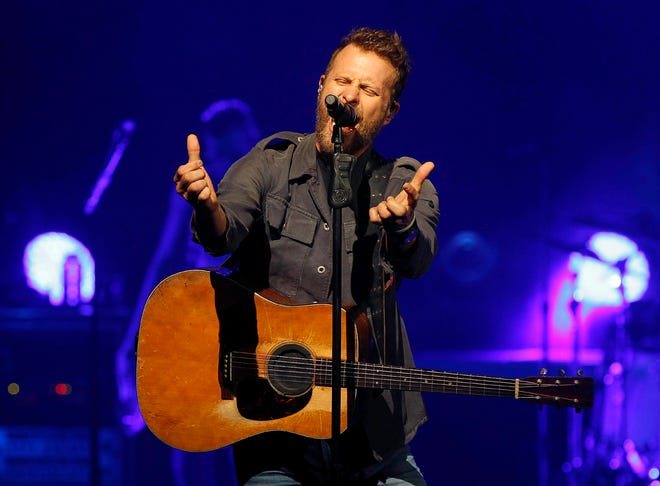"""Dierks Bentley performs during his Mountain High Tour in Phoenix on Sept. 29. Bentley has announced spring jaunt """"Burning Man Tour"""" The will include a March 29 show at Nationwide Arena in Columbus."""