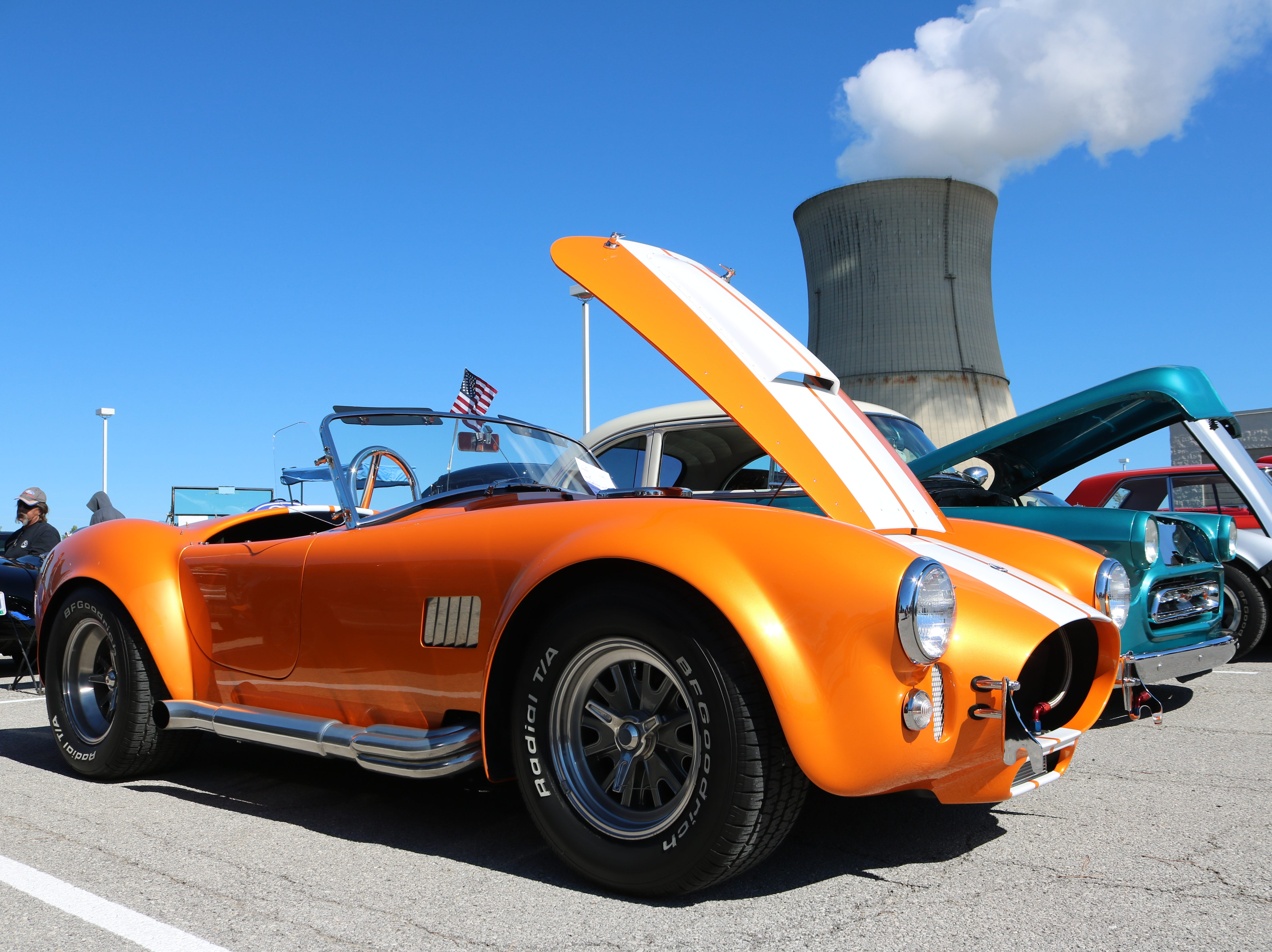 This 1965 Superformance Cobra stood out among the crowd at the Davis-Besse Cruisin' To The Future Car Show on Saturday.