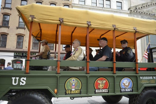"""Veterans from all branches of service were celebrated Sunday at the """"Year of the Veteran Parade"""" in the city of Poughkeepsie."""