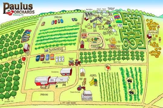 Here's a map of Paulus Orchards.