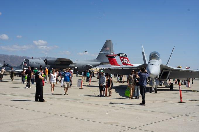 Scenes from the crowd at the California International Airshow Salinas at the Salinas Municipal Airport on Saturday, September 29, 2018.