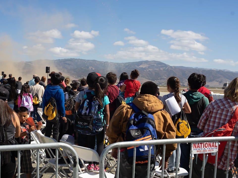 Scenes from a crowd at the California International Airshow Salinas at the Salinas Municipal Airport on Saturday, September 29, 2018.