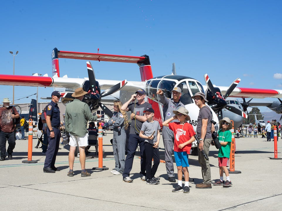 Scenes from the crowd during the California International Airshow Salinas at the Salinas Municipal Aiport on Saturday, September 29, 2018.