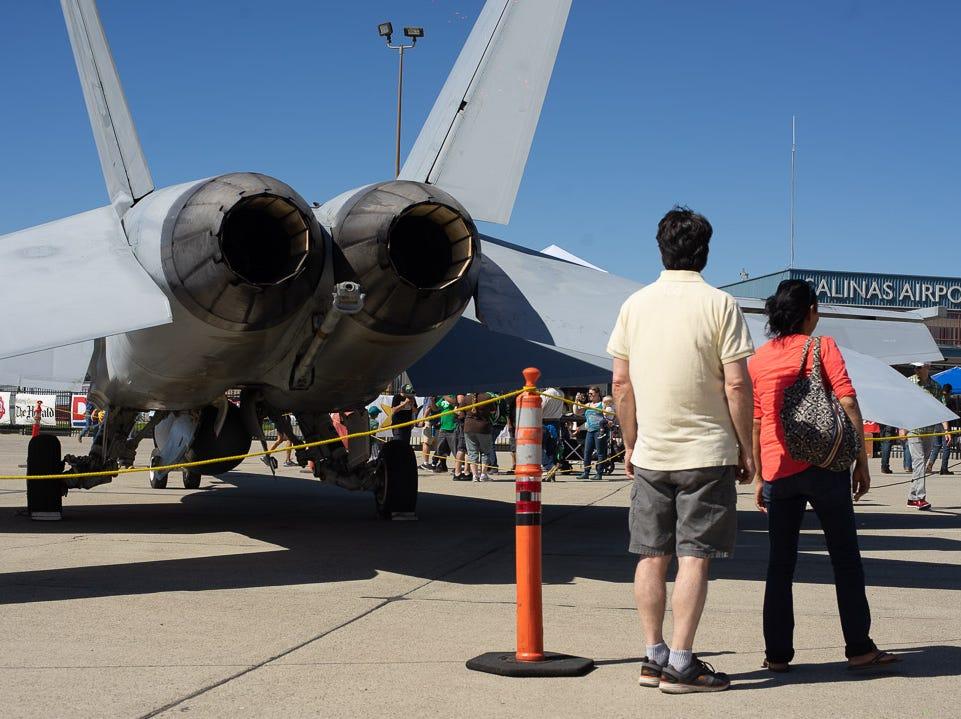 Scenes from crowd at the California International Airshow Salinas at the Salinas Municipal Airport on Saturday, September 29, 2018.