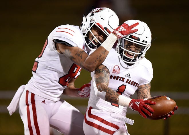 The University of South Dakota beat Southern Illinois University on Saturday night.