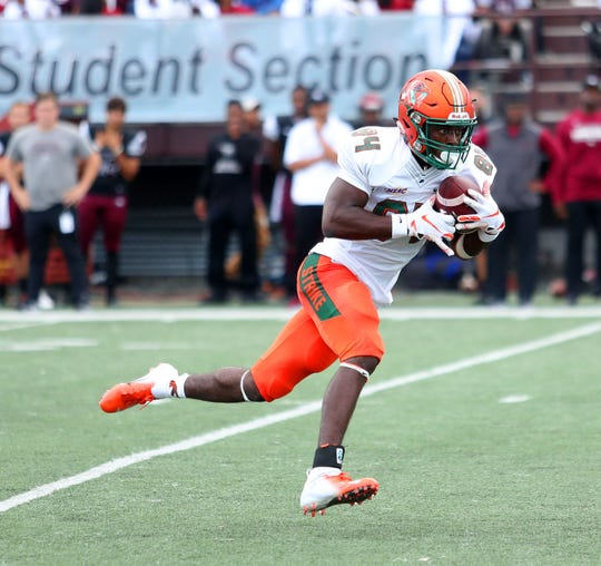 Chad Hunter had seven catches for 135 yards and three scores against North Carolina Central.