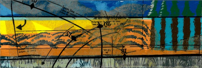 LeMoyne exhibit will feature abstract mixed media landscapes of donalee pond-Koenig.