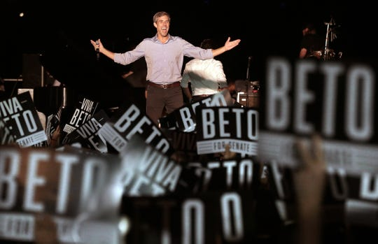 Senate candidate Beto O'Rourke joined Willie Nelson and several other Texas musicians Sept. 29, 2018, for a rally and concert at Auditorium Shores in Austin. O'Rourke is running against Sen. Ted Cruz.