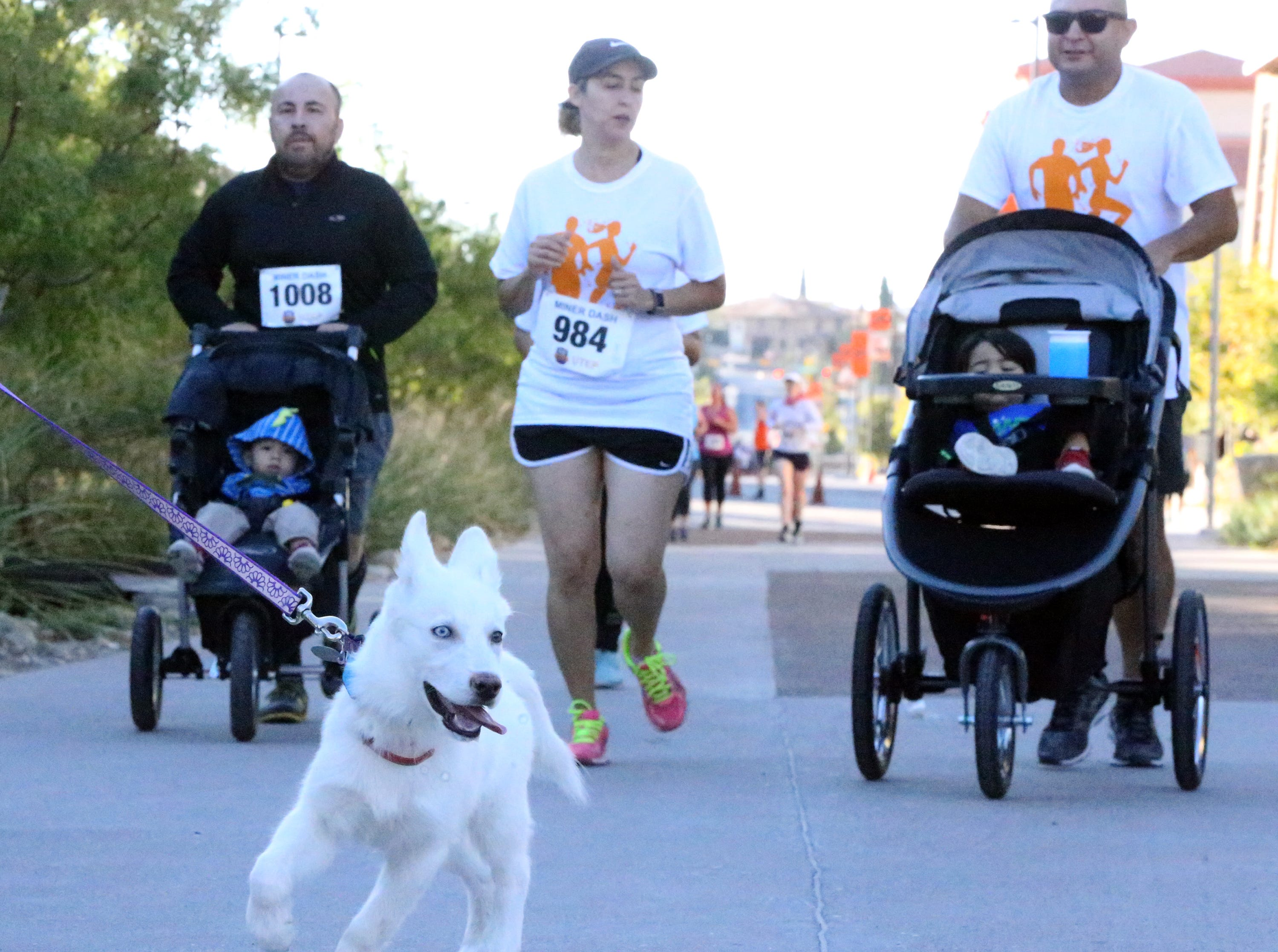 Some 4-legged friends also took part in the Miner Dash Sunday.