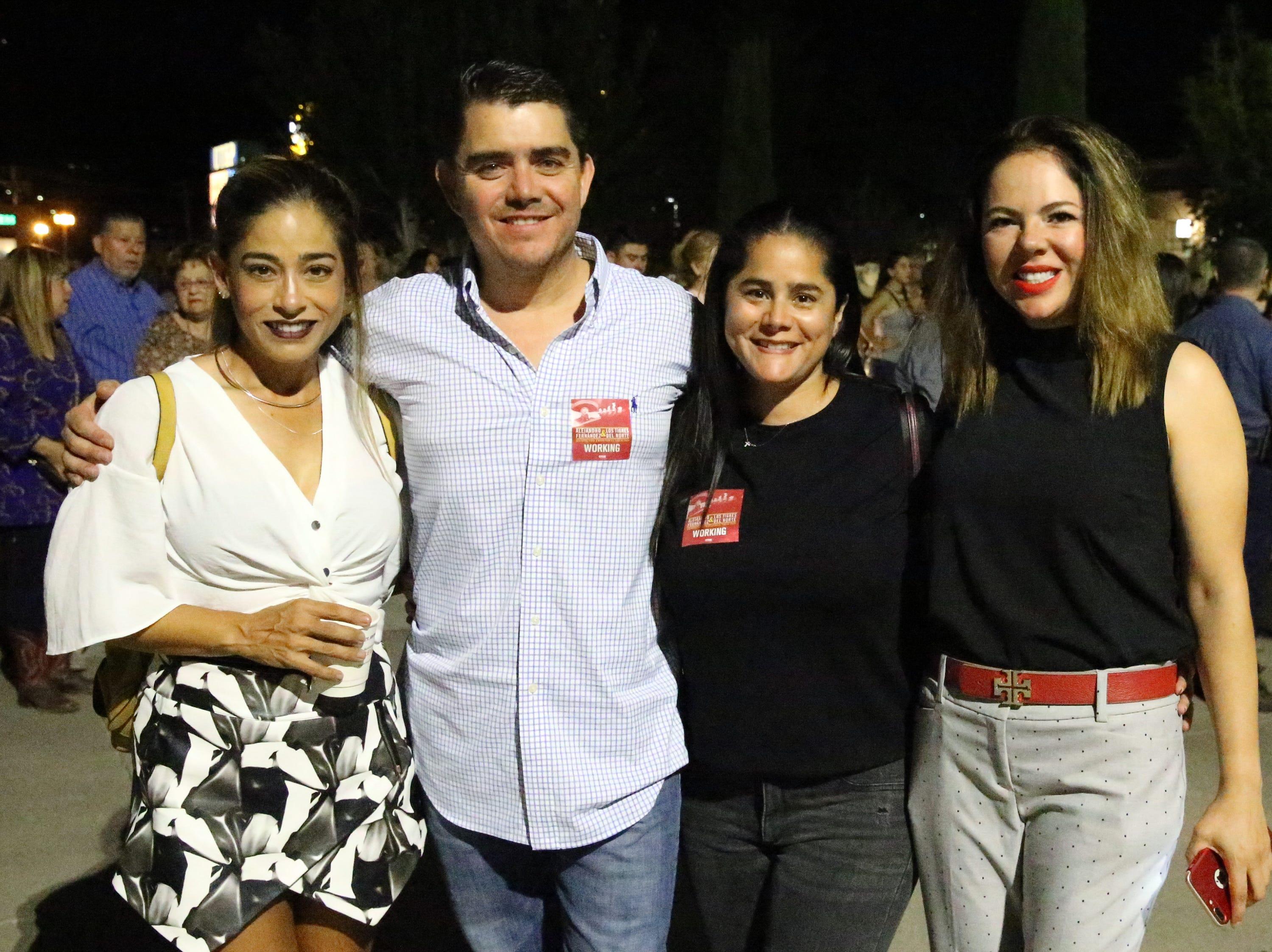 L-R: Ana Villarreal, David Gonzalez, Adriana Gomez and Alma Enriquez.
