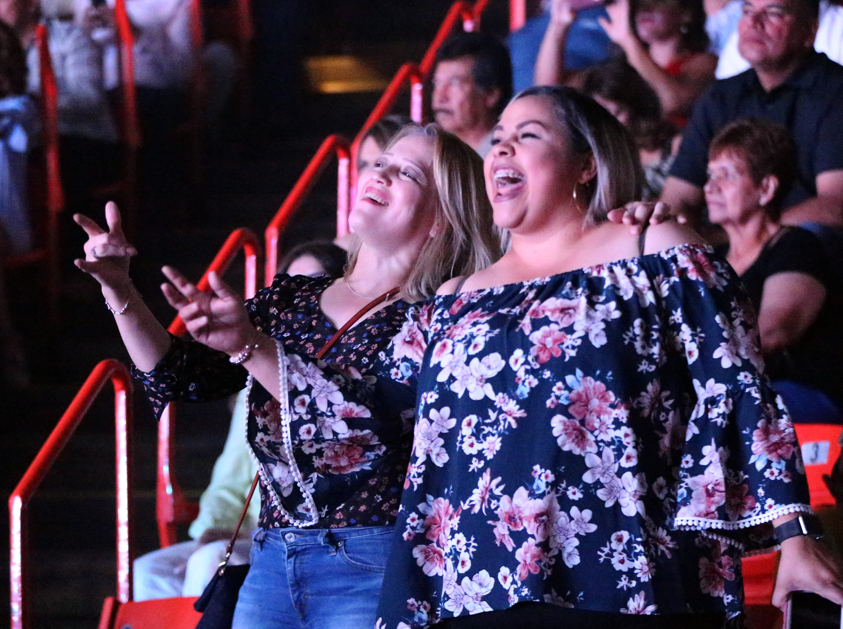 Dancing to the music Saturday night in the Don Haskins Center.