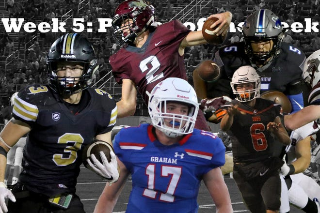 Nominees for the Week 5: TRN Player of the Week are City View's Isaiah Marks, Burk's Mason Duke, Vernon's B.T. White, Henrietta's Mason Marchman and Graham's Will Hays.