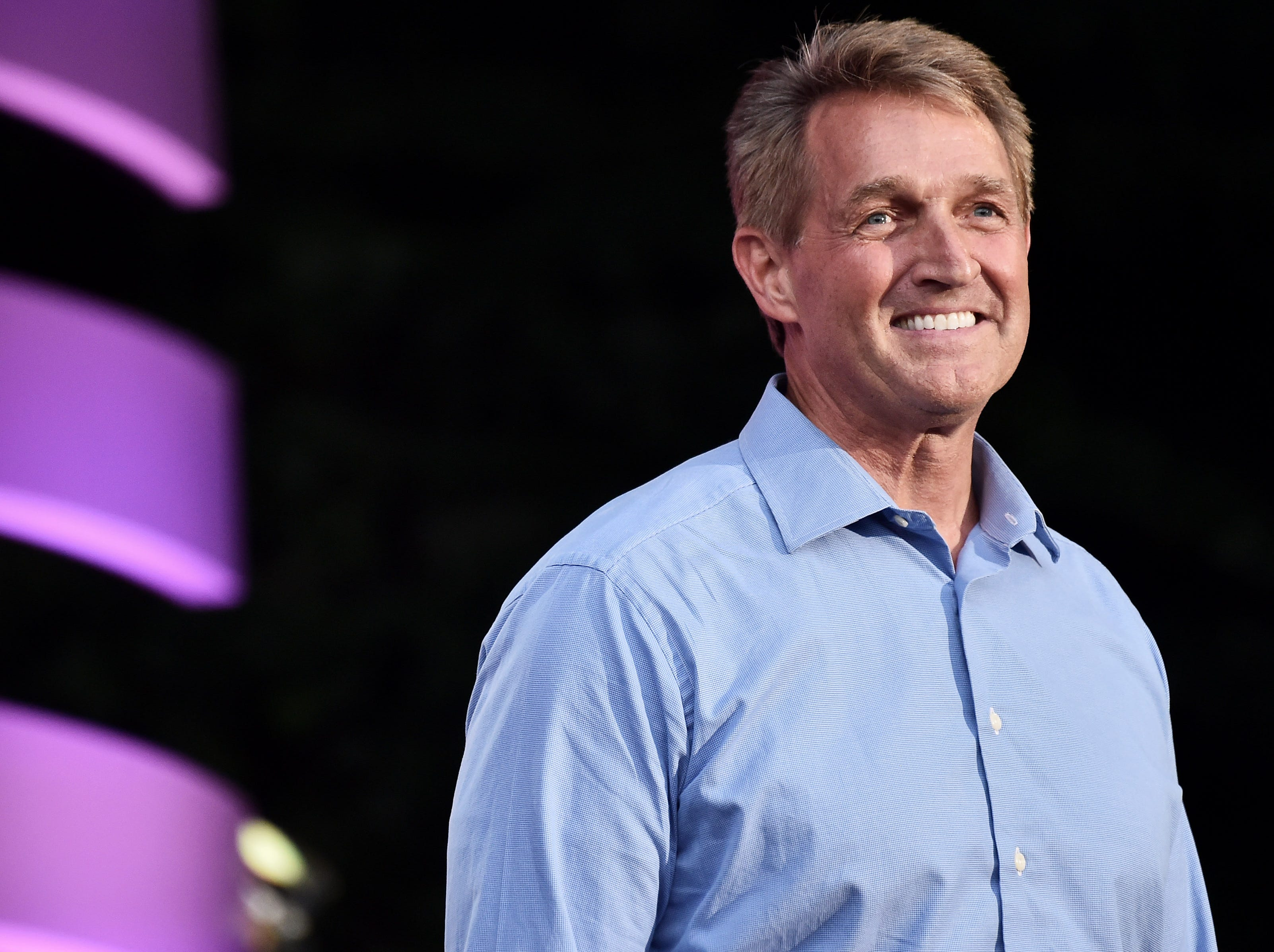 NEW YORK, NY - SEPTEMBER 29:  United States Senator Jeff Flake performs onstage during the 2018 Global Citizen Concert at Central Park, Great Lawn on September 29, 2018 in New York City.  (Photo by Steven Ferdman/WireImage) ORG XMIT: 775224758 ORIG FILE ID: 1043278210