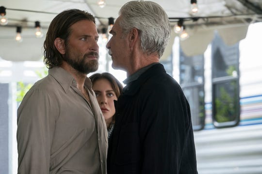 Jack (Bradley Cooper, left) confronts his brother Bobby (Sam Elliott) in 'A Star Is Born.'
