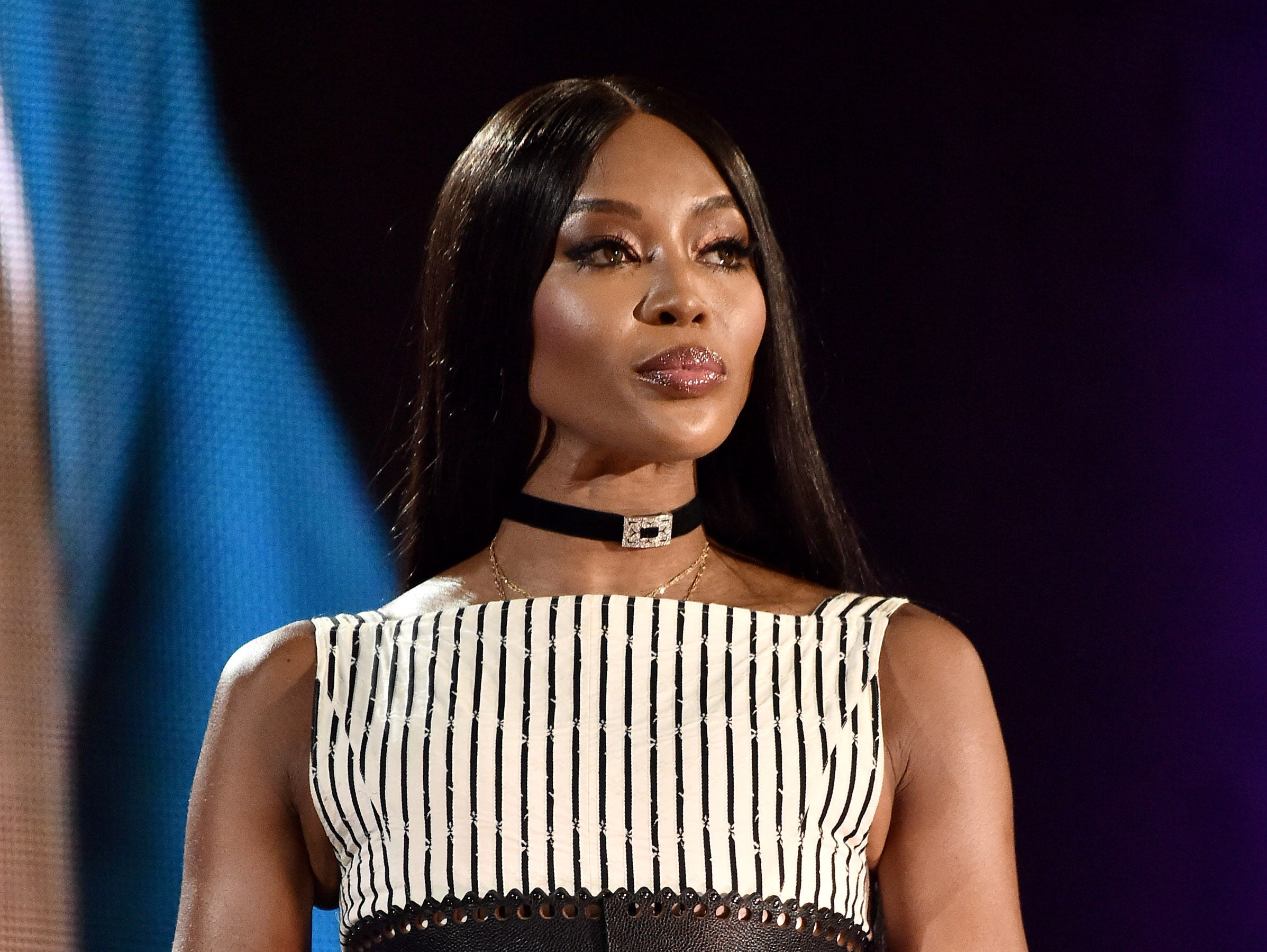 NEW YORK, NY - SEPTEMBER 29:  Naomi Campbell speaks onstage during the 2018 Global Citizen Concert at Central Park, Great Lawn on September 29, 2018 in New York City.  (Photo by Steven Ferdman/WireImage) ORG XMIT: 775224758 ORIG FILE ID: 1043278058