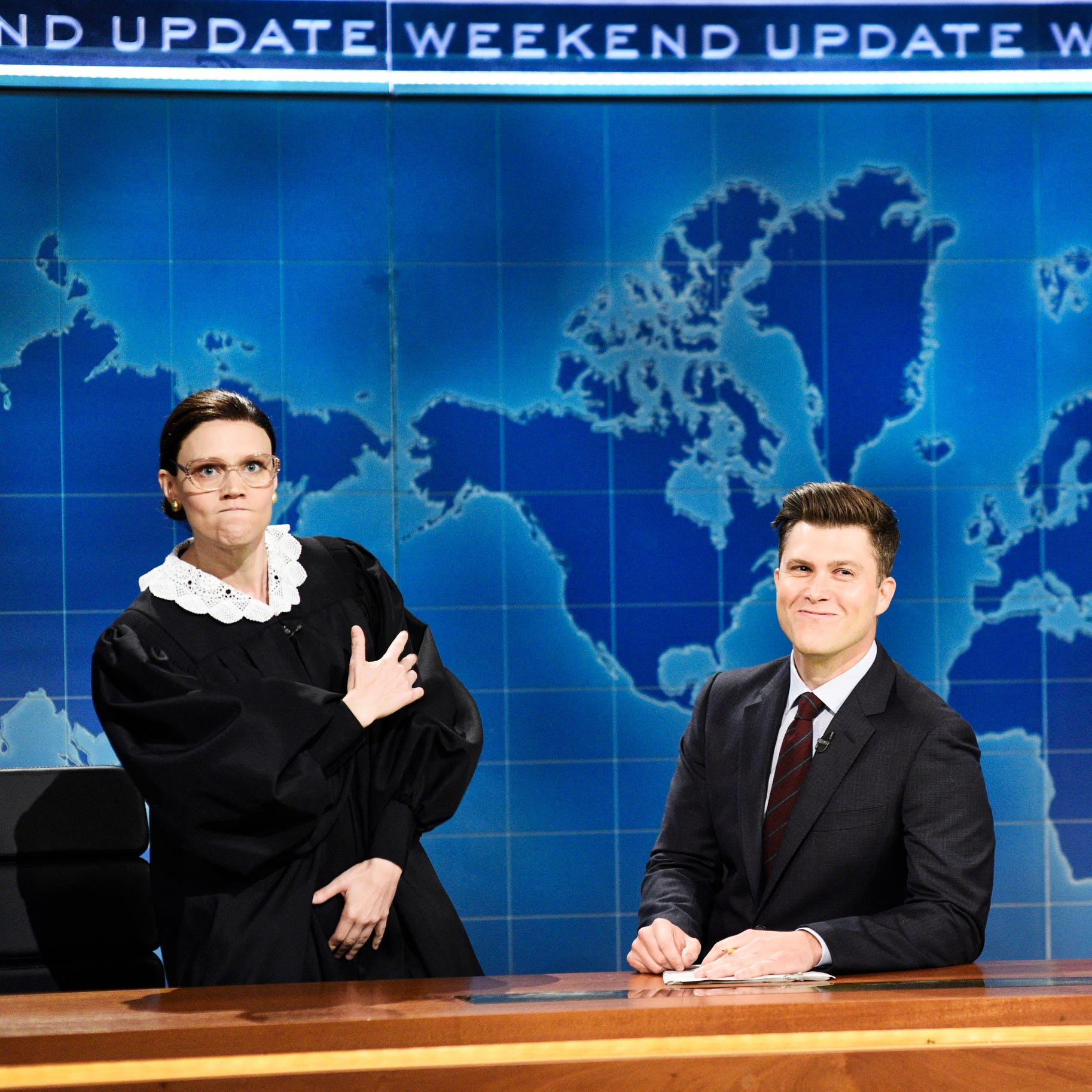 Kate McKinnon returned as Justice Ruth Bader Gisnburg.