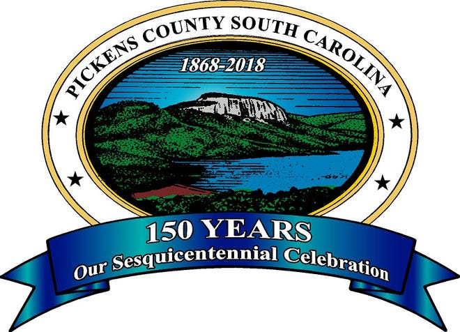 Logo of the Pickens County Sesquicentennial