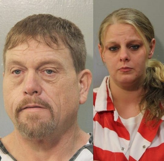 """Christopher Doyle """"Hog Head"""" Chelette (left) and Laura Brittany O'Neal"""