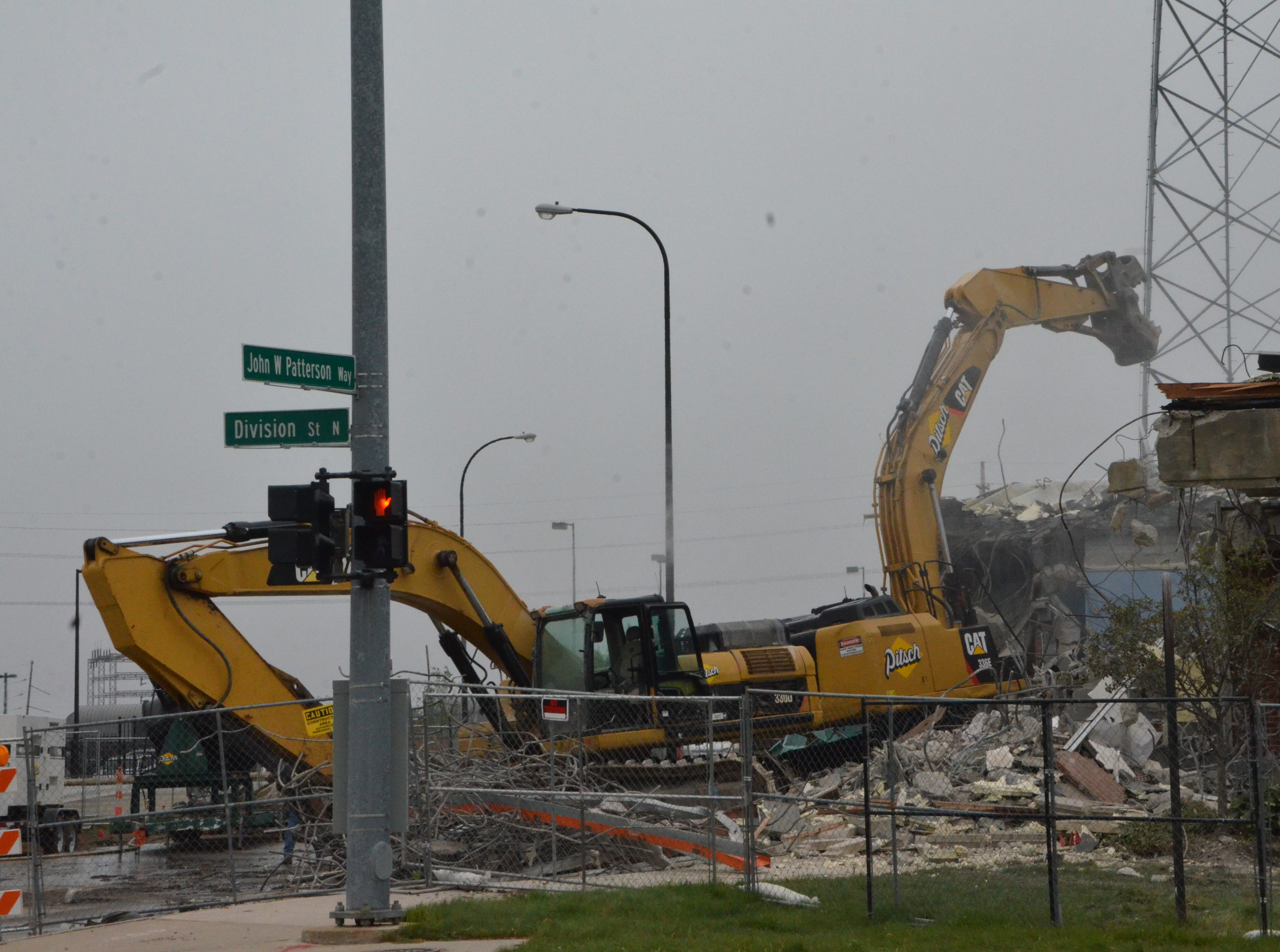 Pitsch Co. of Grand Rapids started to demolish the old Battle Creek Police Department headquarters on Monday, Oct. 1.