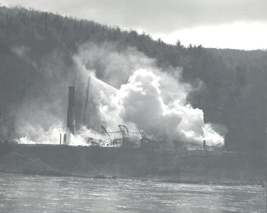 The dance hall is razed in a controlled burn in 1976.