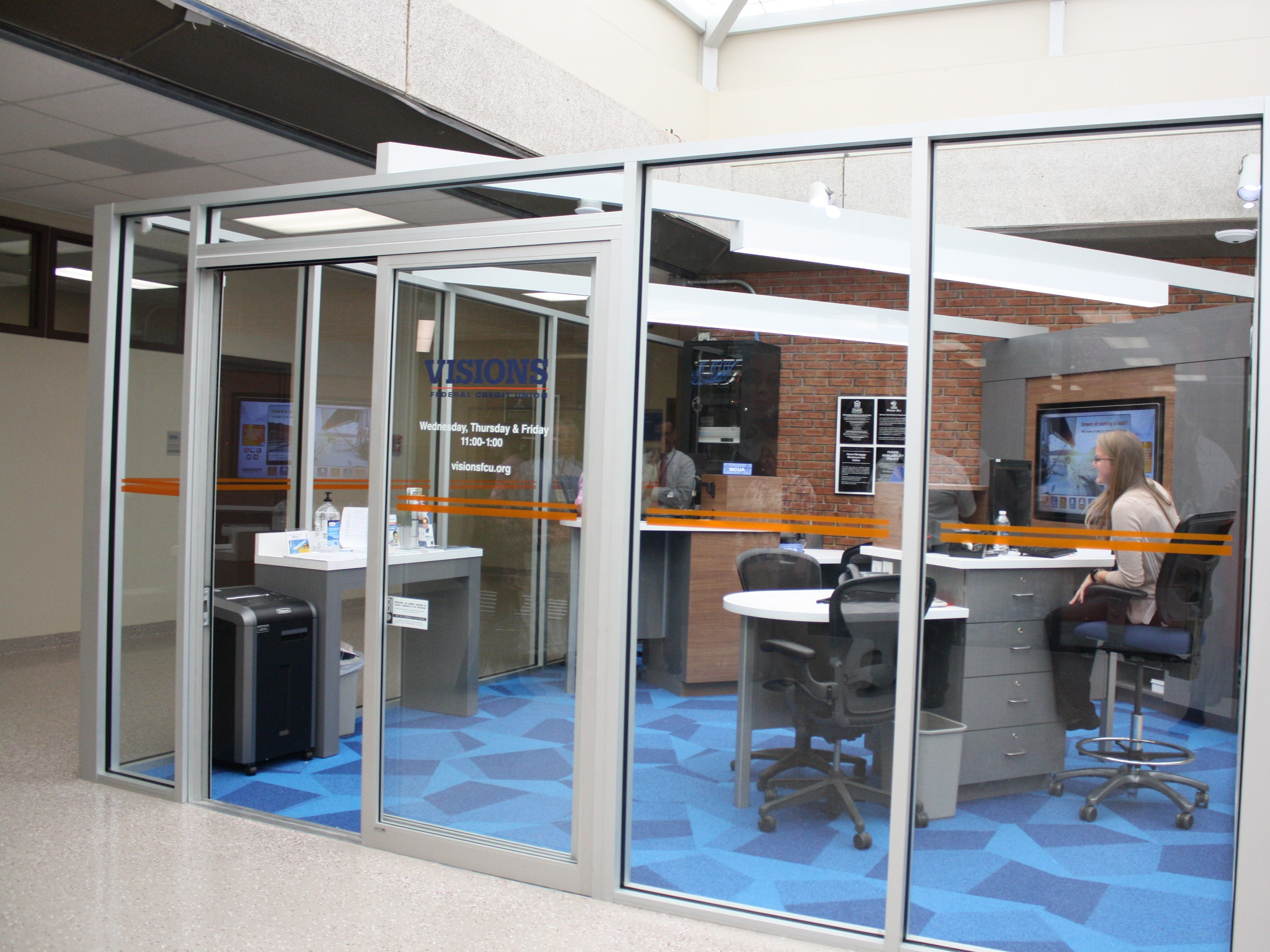 Visions Federal Credit Union opened a new branch office at Broome-Tioga BOCES' main campus in Binghamton in September.