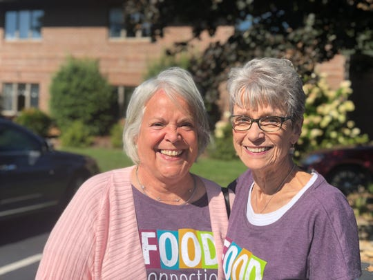 Brenda Thornburg, left, and Lorraine Edwards learned about the efforts of Food Connection to rescue untouched meals from catered events and give them to people who need them. They approached founder Flori Pate about expanding to the Swannnaoa Valley.