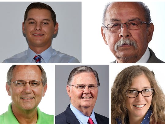 Michael Hall, Ray Madrigal de Pancho Villa, Dan McQueen, Joe McComb and Aislynn Campbell are running for Corpus Christi mayor. The election is Nov. 6, 2018.