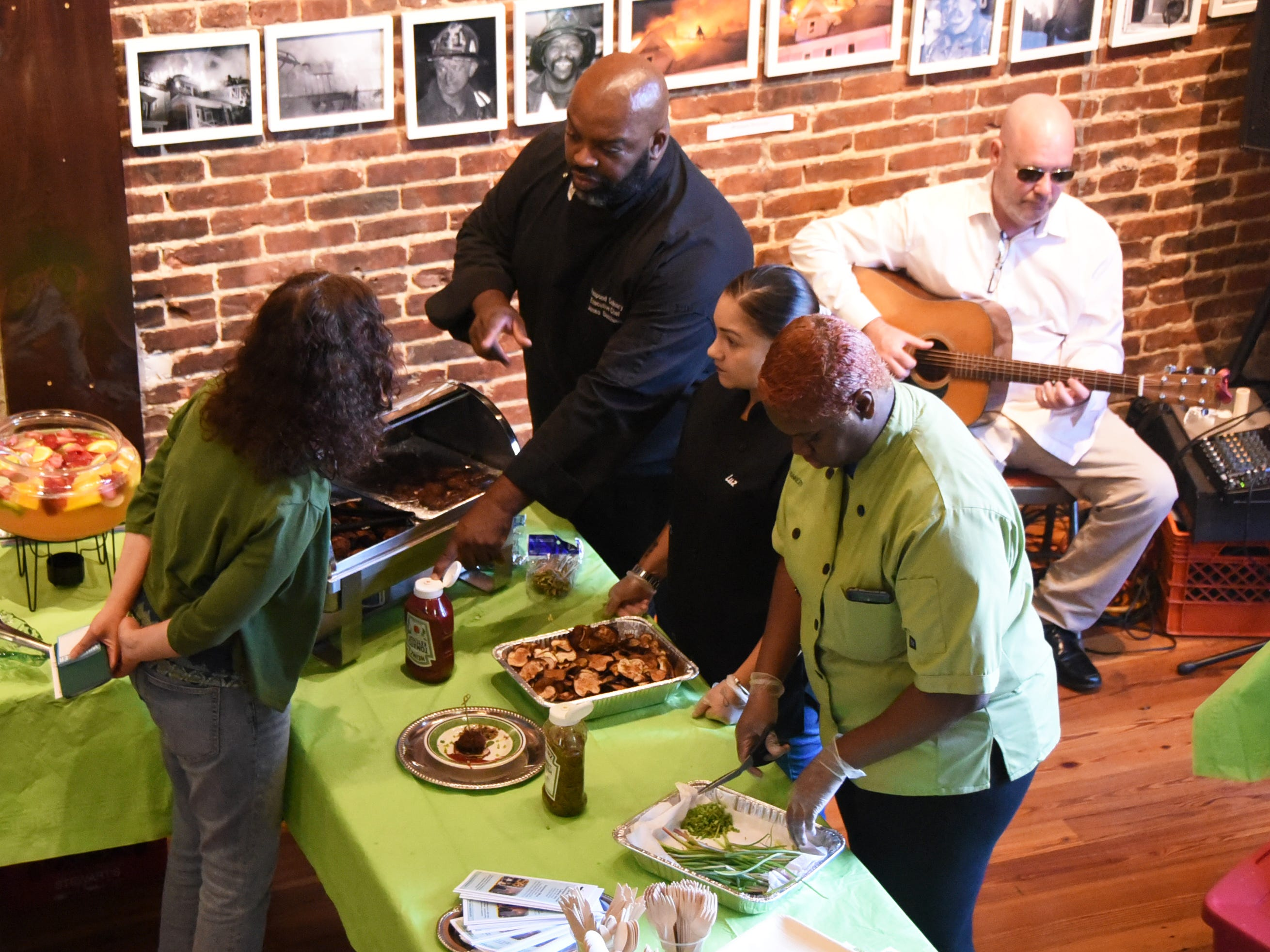 The Courier-Post partnered with the Farm & Fisherman Tavern in Cherry Hill and other community organizations to hold the #WasteNot for CFET event at the FireWorks Gallery in South Camden on Saturday, September 29, 2018.  The event offered a special tasting, farm tour and community conversation about reducing food waste.