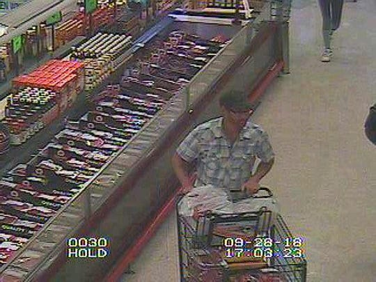 Berlin Township Police said a man filled his cart at ShopRite - but failed to pay.