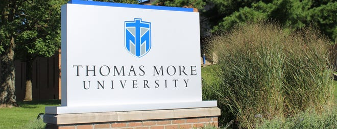A new marquee welcomes everyone to the Thomas More University campus in Crestview Hills.