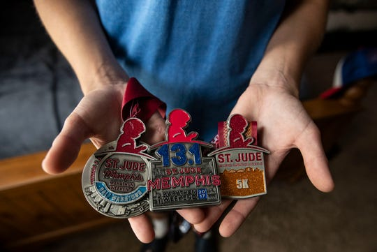 Jaxon Hindman has completed six marathons over since his treatment. In 2015 he participated in his first 5K and recently partook in St, Judes Walk/Run 5K September 22, 2018.