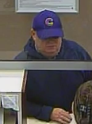 Another image of the suspect sought by police in connection with a bank robbery in Franklin.