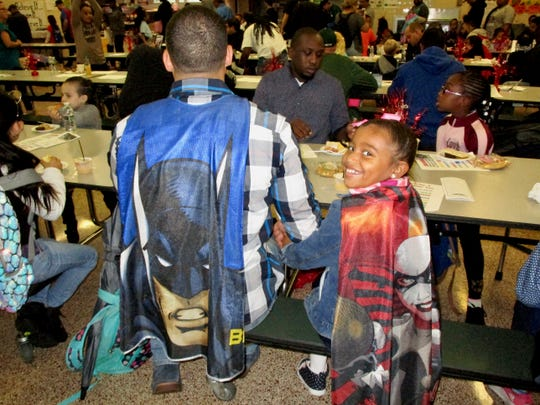 "Linden's School No. 2 hosts 300 superheroes for ""Walking and Talk with Dad"""