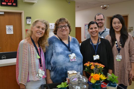 Carrier Clinic in Belle Mead has deployed a mobile cart therapeutic gardening program fresh with seasonal plants to engage the five senses of sight, sounds, taste, touch and smell.