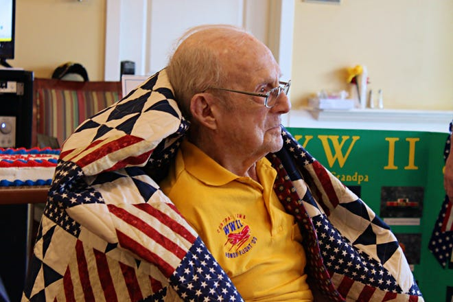 Altoona resident Gordon Gill was presented with a Quilt of Valor in September in recognition of his military service. Gill served the U.S. Army's First Infantry Division during World War II and fought in the Battle of the Bulge.