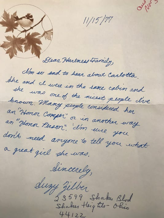Hartness Family Letter 1977