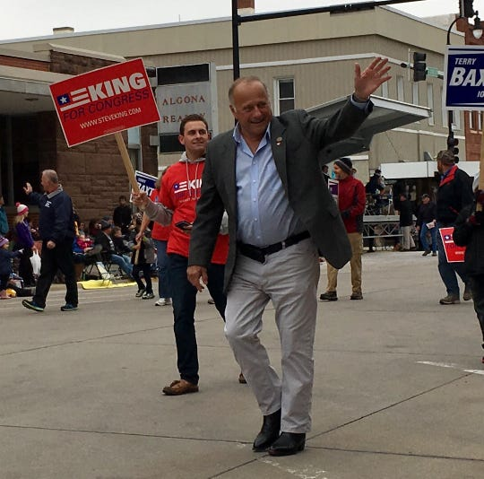 Steve King is running for re-election in Iowa's 4th District and he participated on Sept. 29, 2018, in Algona's annual Band Day Festival Parade.