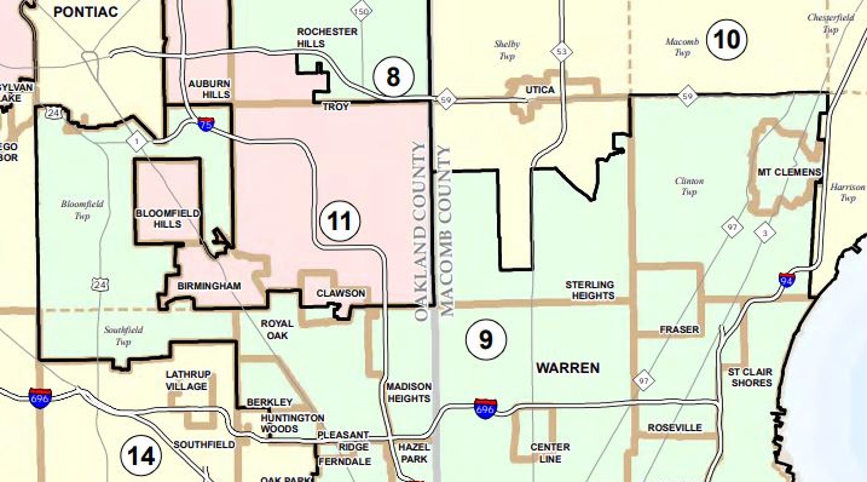 Ferndale Michigan Map.Gop Pressure Shaped Michigan District Maps Court Records Show