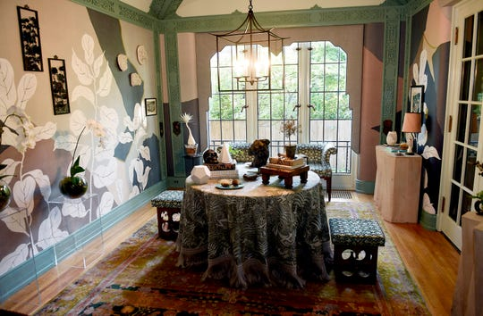 The breakfast room inside the Fisher mansion which was designed by Ann Arbor-based Cloth & Kind for the Junior League of Detroit's Designers' Show House.
