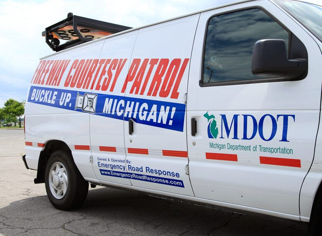 Courtesy van with the Michigan Department of Transportation.