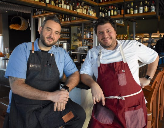 Chef de Cuisine Mark Camaj, left, and Executive Chef / Owner Anthony Lombardo are the force behind the Roman-inspired food at Shewolf, a popular new restaurant in Detroit's Cass Corridor.