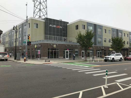 Rental rates for the Auburn apartments on Cass Avenue, built in 2012, are $900-$1,000 per month for a studio and $1,050-$1,150 per month for a one-bedroom unit.