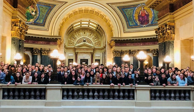 Youth from all over the state gathered at the state capitol in Madison for Model Government in March.
