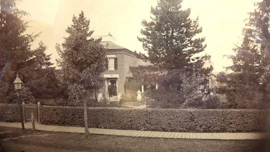 An old photograph of the house in Woodville.