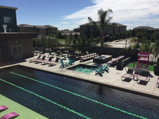 Vibe, 276 apartments in south Fort Collins, opened recently featuring a Junior-olympic swimming pool, elaborate clubhouse including its own palm tree.