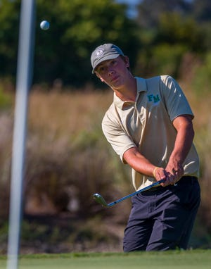 Josh Mesmer, 17, a senior at Fort Myers High School, lead Fort Myers to LCAC title with a score of 71.