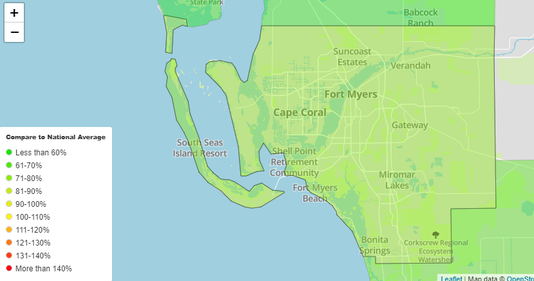 Show A Map Of Florida.Map And Database Community Comparison Of Crime In America